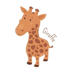 Giraffe isolated child fun icon vector