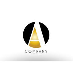 A black white gold golden letter logo design vector