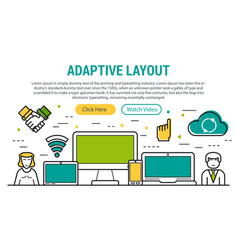 adaptive layout - rectangular site header vector image