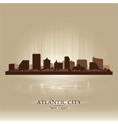 Atlantic city new jersey skyline city silhouette vector