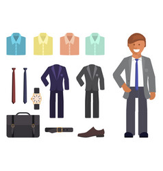 business dress code infographics vector image