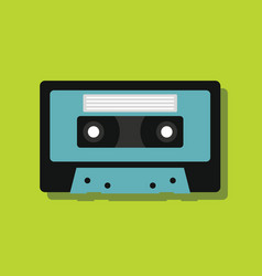 cassette in flat style with shadow vector image vector image