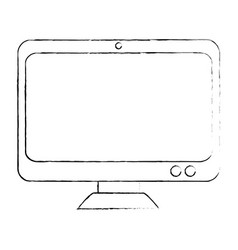 Computer display isolated icon vector