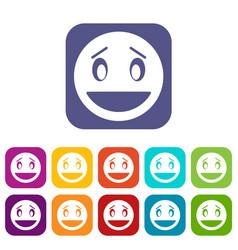 Confused emoticons set vector