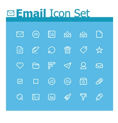 Email icon set vector