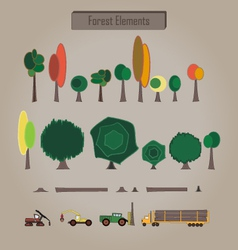 Forest elements vector
