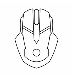 Gaming mouse icon outline style vector