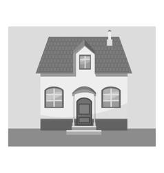 House icon gray monochrome style vector image
