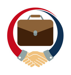 Icon logo for the job deal vector