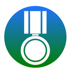 Medal sign white icon in vector