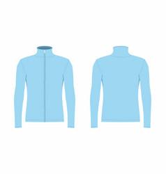 Mens blue long sleeve t shirt vector