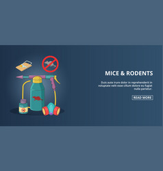 Mice and rodents banner horizontal cartoon style vector