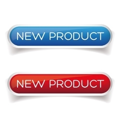 New product button set vector
