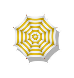 Orange and white striped beach umbrella vector