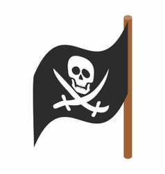Pirate flag icon isometric 3d style vector image