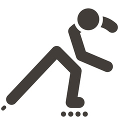 Roller skates icon vector image