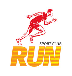 Run sport club jogging man fast jogger vector