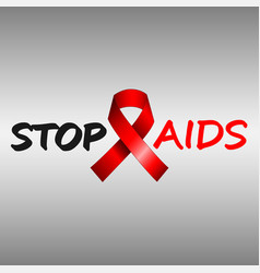 Stop aids poster vector