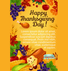 Thanksgiving day greeting poster vector