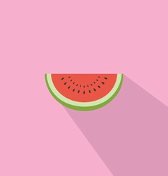 Watermelon Red Fresh Flat Design vector image vector image