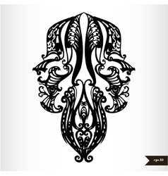 Zodiac signs black and white - Gemini vector image vector image