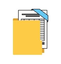 Organizer file folder isolated icon vector