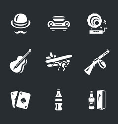 Set of alcohol prohibition icons vector