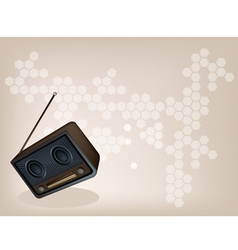 Old radio brown background vector