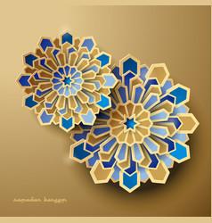 Islamic geometric background ramadan vector