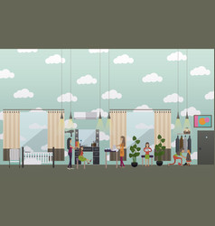nursery concept in flat style vector image