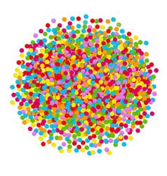 Confetti ball vector