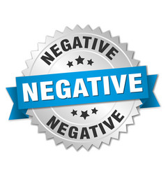 Negative round isolated silver badge vector