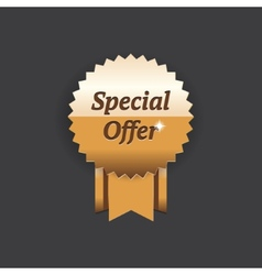Special offer gold label vector