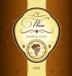 Winery design vector