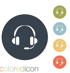 Customer support headphone vector