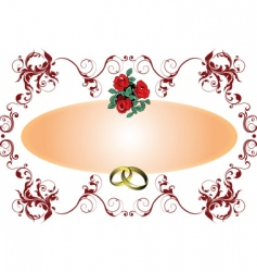 wedding card vector image