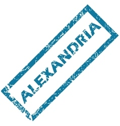 Alexandria rubber stamp vector