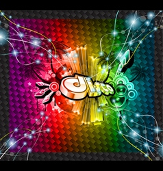 Dj flyer background vector