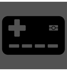 Medical insurance card icon vector