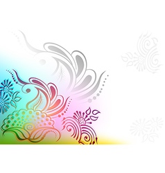 Abstract Colorful Flowers vector image