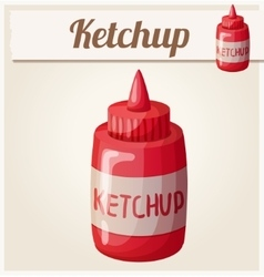 Ketchup detailed icon vector