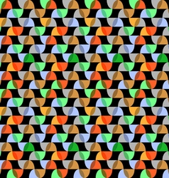 Retro colorful geometric seamless pattern on black vector image