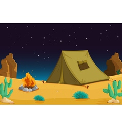 Camping at night vector