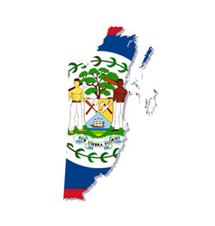 belize flag amp map vector image vector image
