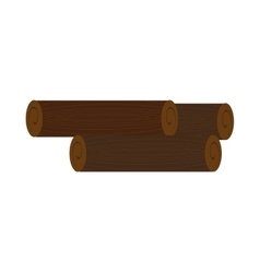 Brown wooden logs graphic vector