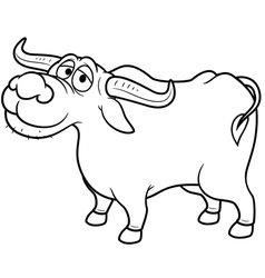 Buffalo outline vector