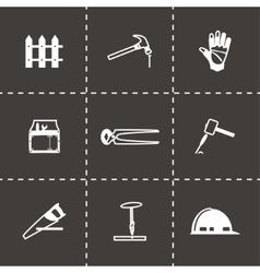 Carpentry icon set vector