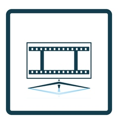Cinema TV screen icon vector image