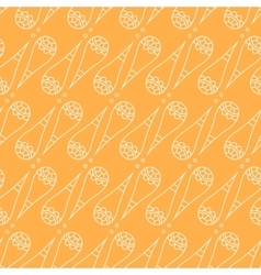 Cute cones seamless pattern vector