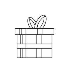 Gift in a box icon outline style vector image vector image